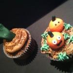 pumpkin and hand