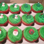 christmas cupcakes by catering heaven